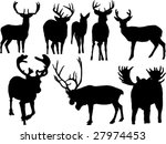 deers collection silhouettes | Shutterstock .eps vector #27974453