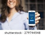 transaction completed... | Shutterstock . vector #279744548