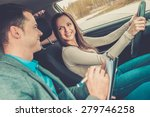driving instructor and woman... | Shutterstock . vector #279746258