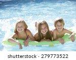 group of children relaxing in... | Shutterstock . vector #279773522