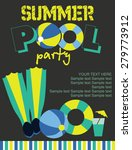 summer pool party   Shutterstock .eps vector #279773912
