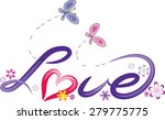 love design with butterfly and... | Shutterstock .eps vector #279775775