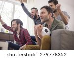 group of friends watching... | Shutterstock . vector #279778352