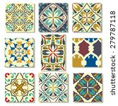 big collection of 9 ceramic... | Shutterstock .eps vector #279787118