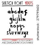 english handwriting alphabet.... | Shutterstock .eps vector #279795602