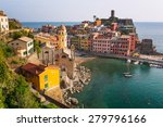 vernazza town on the coast of...   Shutterstock . vector #279796166