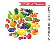 background with juicy ripe...   Shutterstock .eps vector #279798998
