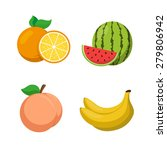 exotic fruits collection.... | Shutterstock .eps vector #279806942