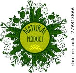 label for natural cosmetic... | Shutterstock .eps vector #279813866