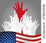 hands and american flag  vector ... | Shutterstock .eps vector #279815048