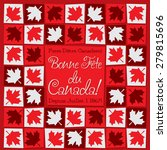 mosaic canada day card in... | Shutterstock .eps vector #279815696