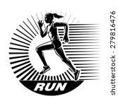 running woman. vector... | Shutterstock .eps vector #279816476