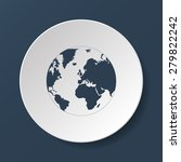 pictograph of globe.... | Shutterstock .eps vector #279822242