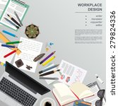 workspace of the writer ... | Shutterstock .eps vector #279824336