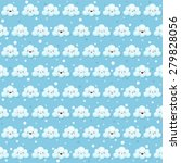pattern with cute clouds and... | Shutterstock .eps vector #279828056