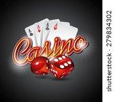 vector illustration on a casino ... | Shutterstock .eps vector #279834302