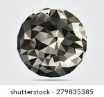 abstract polygonal sphere... | Shutterstock .eps vector #279835385