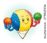 snow cone cartoon character