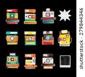 watercolor set cameras | Shutterstock .eps vector #279844346