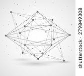 wireframe mesh polygonal... | Shutterstock .eps vector #279849308