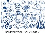 set of fishes. | Shutterstock .eps vector #27985352