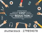 vector cost reduction concept... | Shutterstock .eps vector #279854078