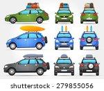 vector travel cars   side  ... | Shutterstock .eps vector #279855056