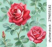 watercolor rose flowers... | Shutterstock . vector #279855182