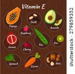 infographic set of vitamin e... | Shutterstock .eps vector #279859352