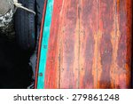 Old Wooden Floor Of The Boat I...