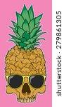 skull fruit pineapple with...   Shutterstock .eps vector #279861305
