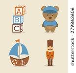 baby toys design  vector... | Shutterstock .eps vector #279863606