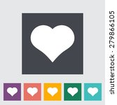 suit of heart. single flat icon ... | Shutterstock .eps vector #279866105