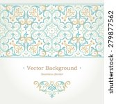 vector ornate seamless border... | Shutterstock .eps vector #279877562