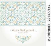 vector ornate seamless border... | Shutterstock .eps vector #279877562