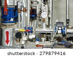 manometers  pipes and faucet... | Shutterstock . vector #279879416