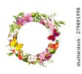 butterflies on meadow flowers.... | Shutterstock . vector #279891998