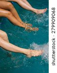 legs of a women in swimming... | Shutterstock . vector #279909068