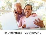 senior taiwanese couple working ... | Shutterstock . vector #279909242