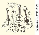 music  design over white... | Shutterstock .eps vector #279910352