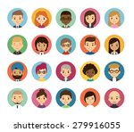 set of diverse round avatars... | Shutterstock .eps vector #279916055