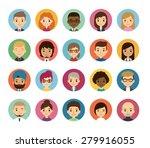 set of diverse round avatars... | Shutterstock .eps vector #279916055