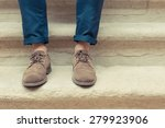 young man wearing brown chamois ... | Shutterstock . vector #279923906