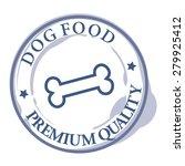 dog food rubber stamp | Shutterstock .eps vector #279925412