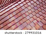 red metalized roof tiles... | Shutterstock . vector #279931016