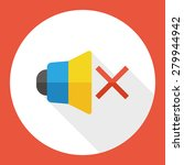 mute speaker  flat icon with... | Shutterstock .eps vector #279944942