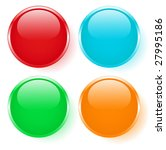 color set of buttons | Shutterstock .eps vector #27995186