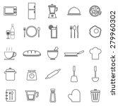 kitchen line icons on white... | Shutterstock .eps vector #279960302