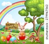 easter holidays background | Shutterstock . vector #279967562