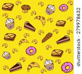 pattern of different pastries... | Shutterstock .eps vector #279978632